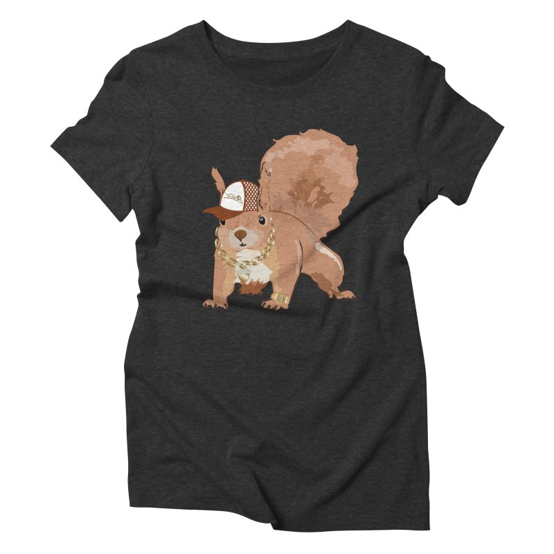 Oldschool Squirrel Women's Triblend T-Shirt by Tramb