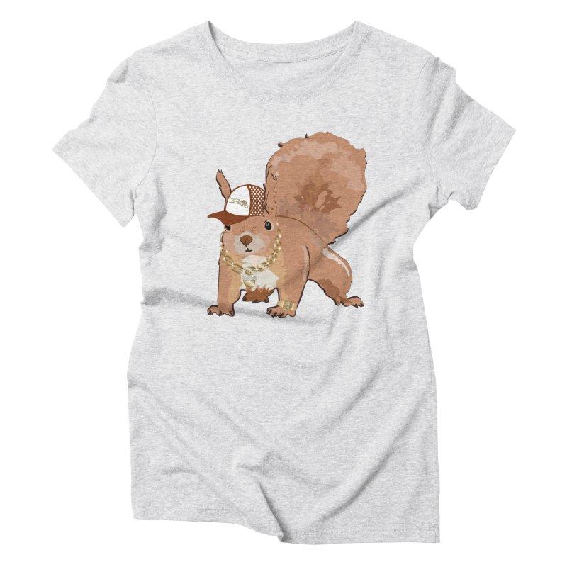 Oldschool Squirrel Women's Triblend T-Shirt by Tramb