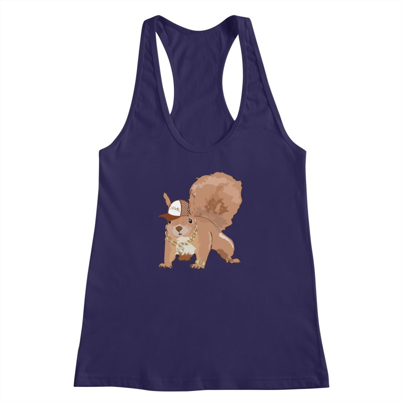 Oldschool Squirrel Women's Racerback Tank by Tramb