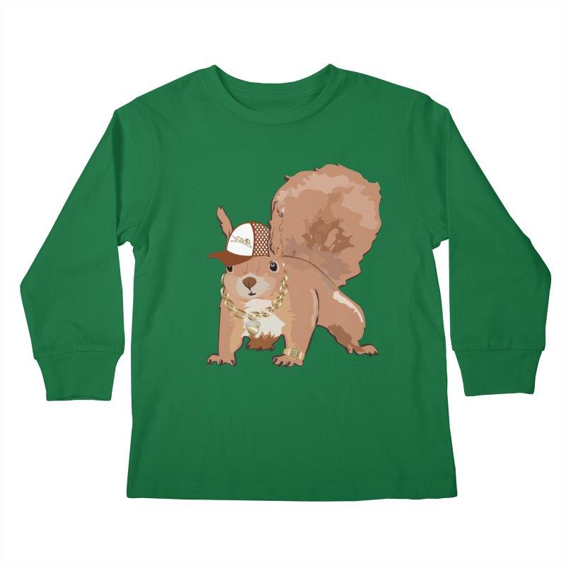 Oldschool Squirrel Kids Longsleeve T-Shirt by Tramb