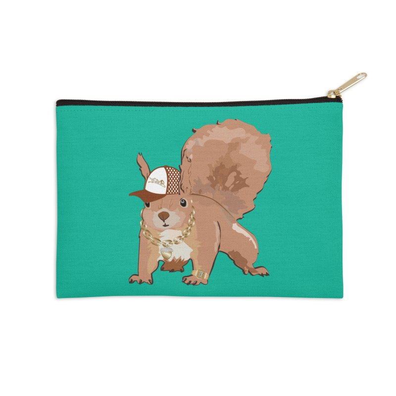 Oldschool Squirrel Accessories Zip Pouch by Tramb