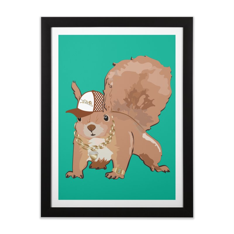 Oldschool Squirrel Home Framed Fine Art Print by Tramb