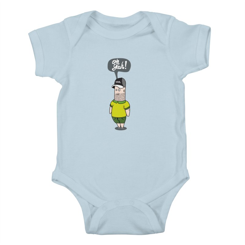 Oh Yeah! Kids Baby Bodysuit by Tramb