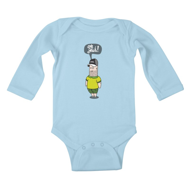 Oh Yeah! Kids Baby Longsleeve Bodysuit by Tramb