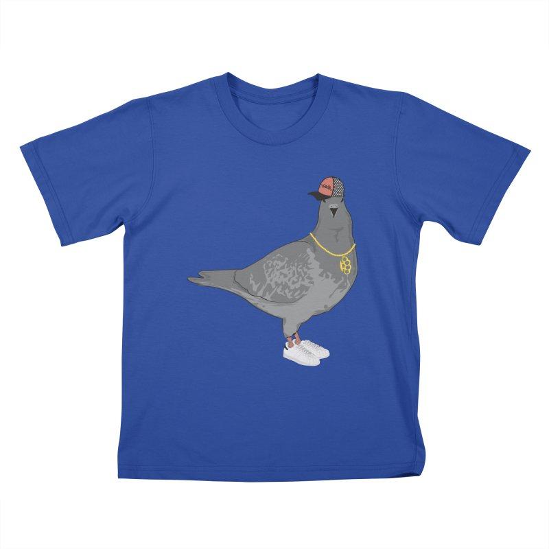 Oldschool Pigeon Kids T-shirt by Tramb