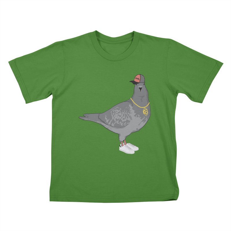 Oldschool Pigeon Kids T-Shirt by Tramb