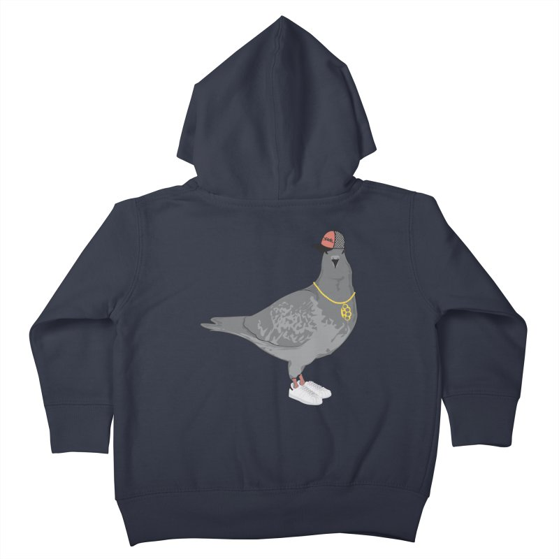 Oldschool Pigeon Kids Toddler Zip-Up Hoody by Tramb