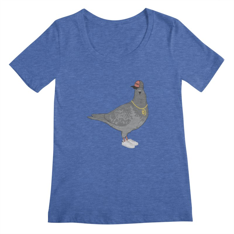 Oldschool Pigeon Women's Scoopneck by Tramb