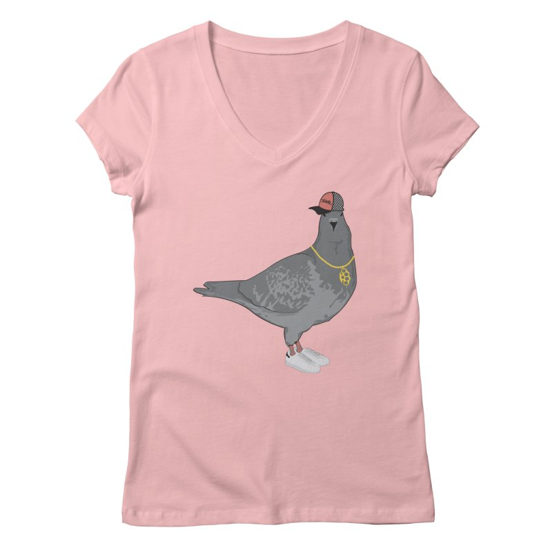 Oldschool Pigeon Women's V-Neck by Tramb