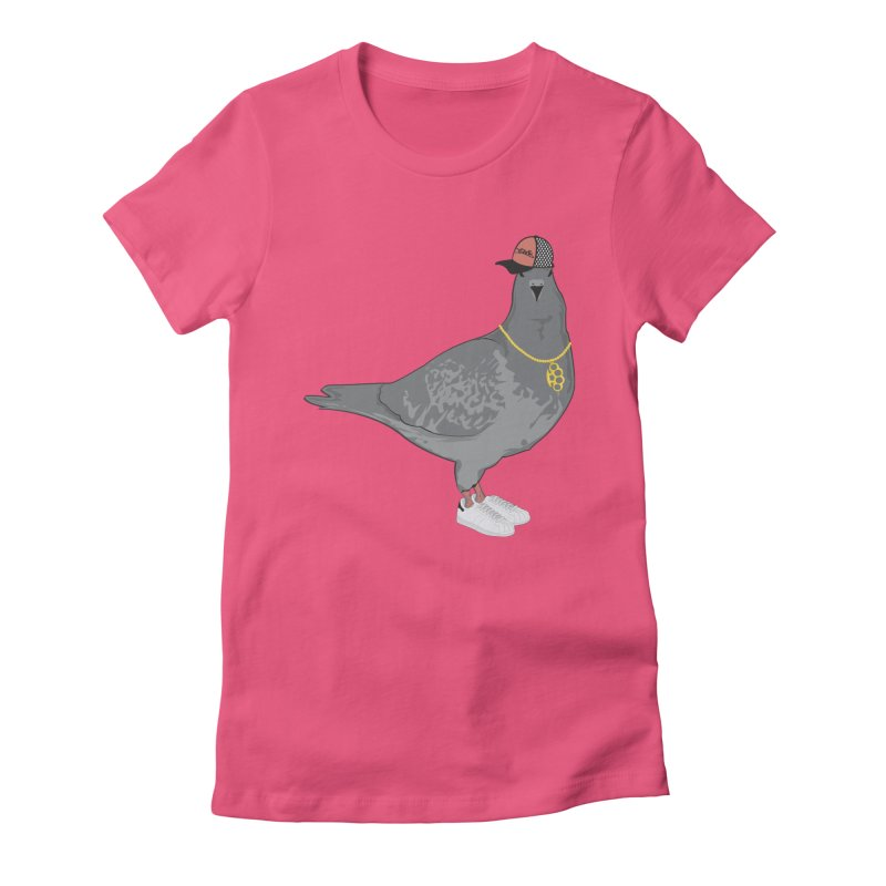 Oldschool Pigeon Women's Fitted T-Shirt by Tramb