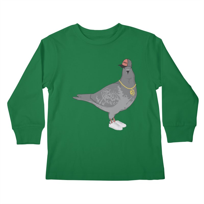 Oldschool Pigeon Kids Longsleeve T-Shirt by Tramb