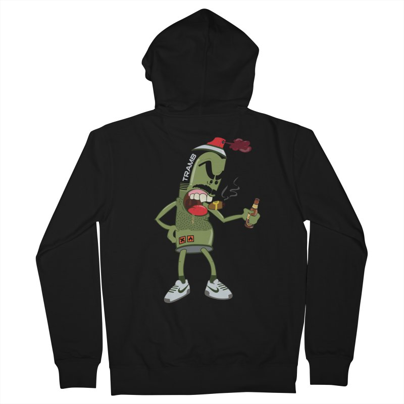 Smokin' Spray! Men's Zip-Up Hoody by Tramb