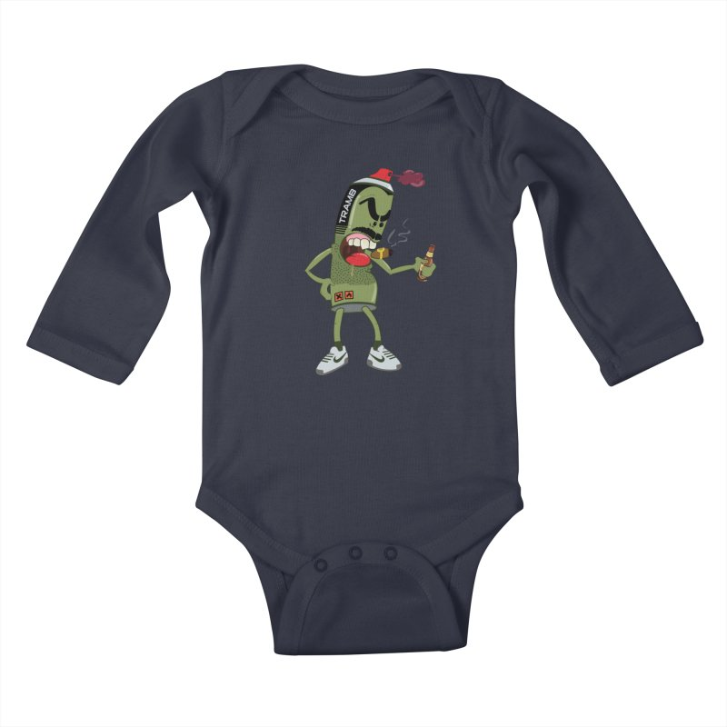 Smokin' Spray! Kids Baby Longsleeve Bodysuit by Tramb