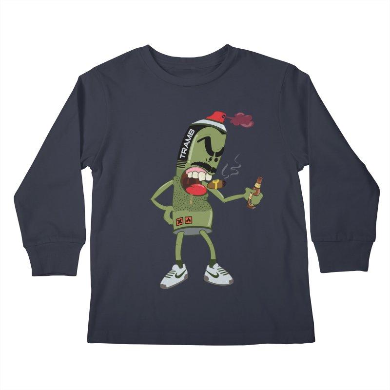 Smokin' Spray! Kids Longsleeve T-Shirt by Tramb