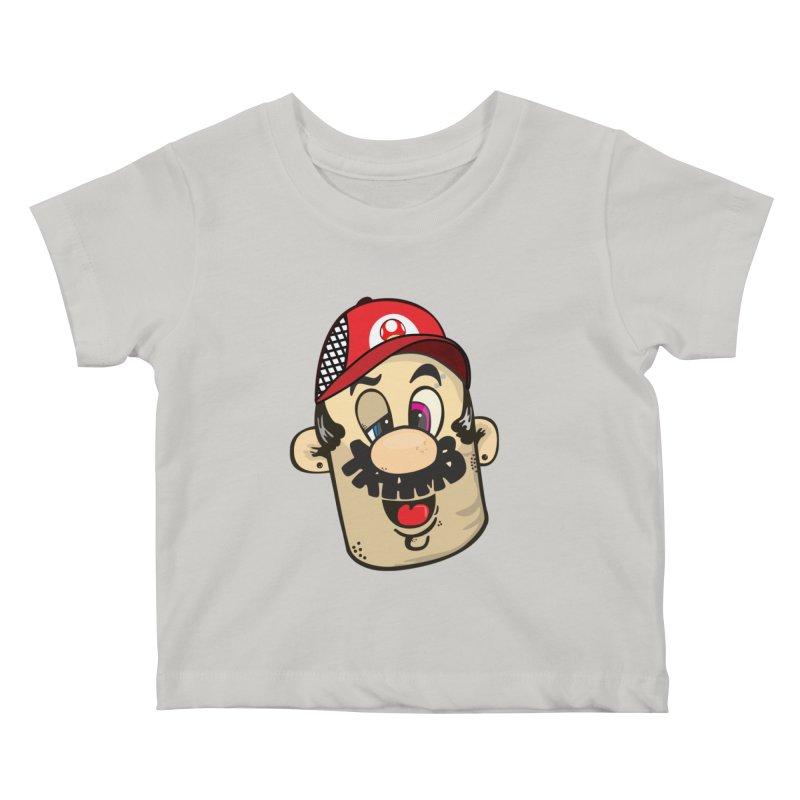 Marioooo Kids Baby T-Shirt by Tramb