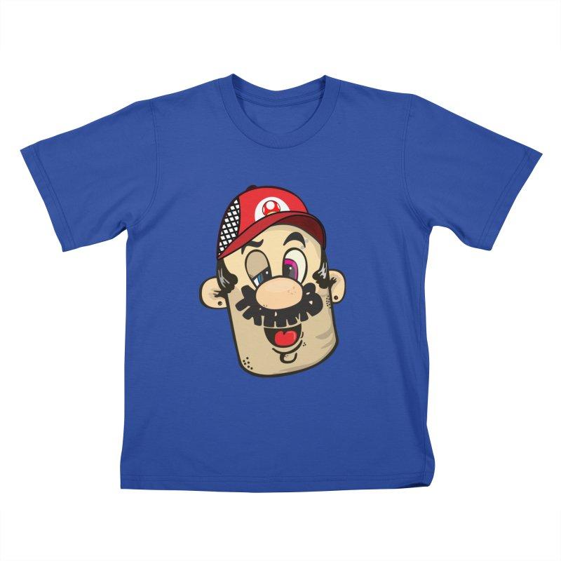 Marioooo Kids T-shirt by Tramb