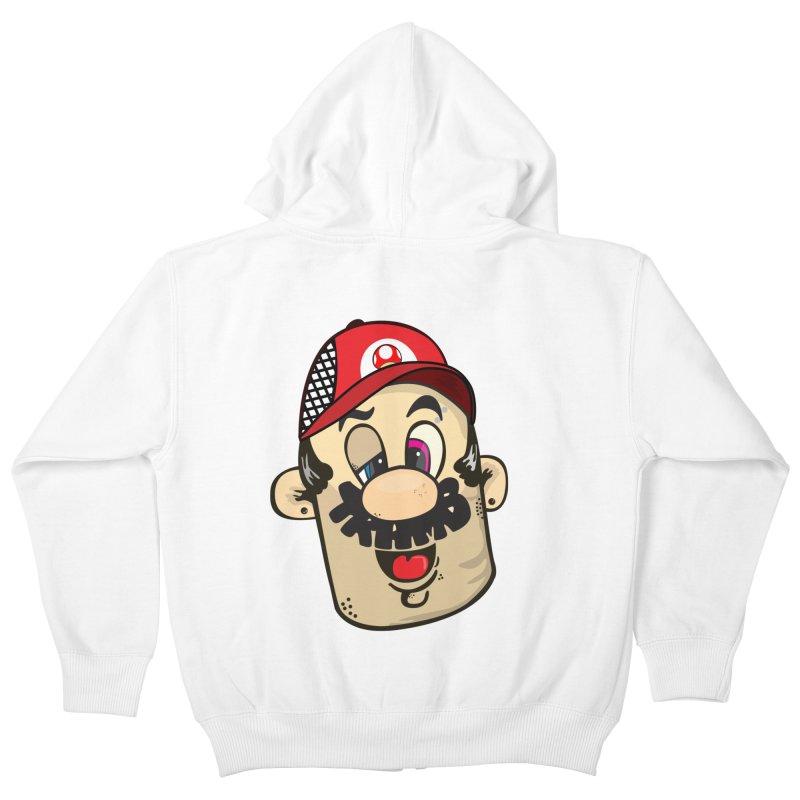Marioooo Kids Zip-Up Hoody by Tramb