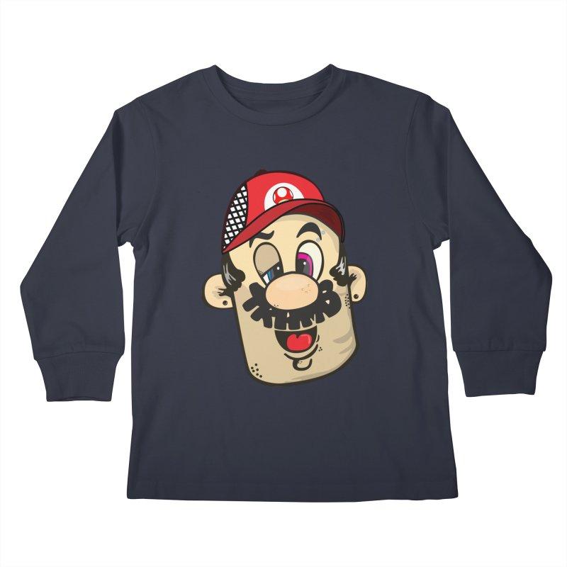 Marioooo Kids Longsleeve T-Shirt by Tramb
