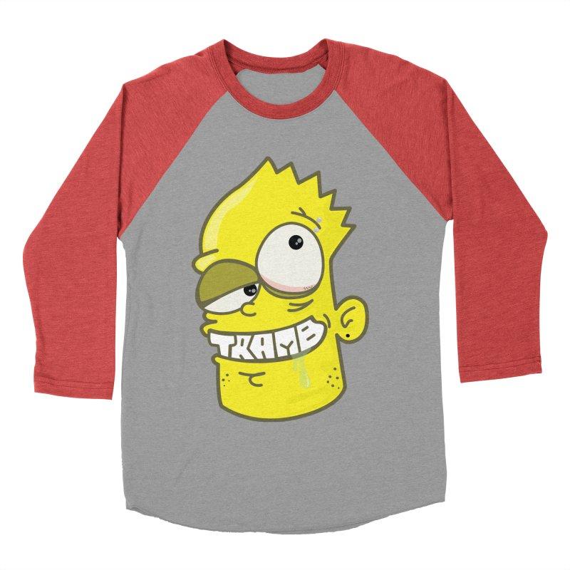 TramBart Men's Baseball Triblend T-Shirt by Tramb
