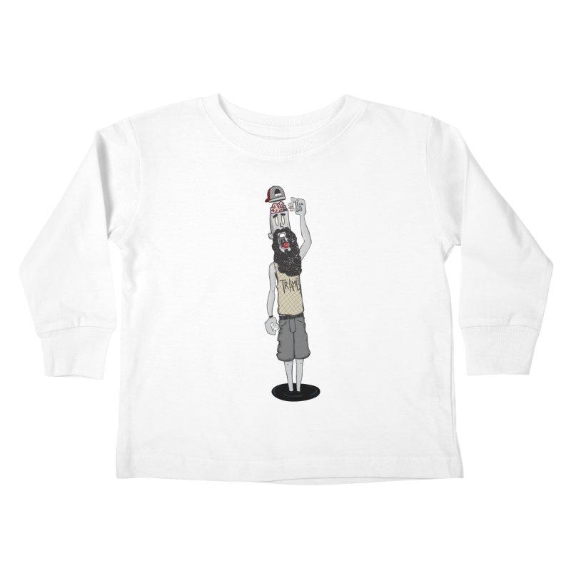 Eat Ur Brain Kids Toddler Longsleeve T-Shirt by Tramb