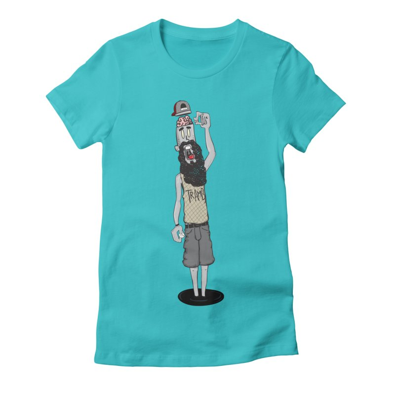 Eat Ur Brain Women's Fitted T-Shirt by Tramb