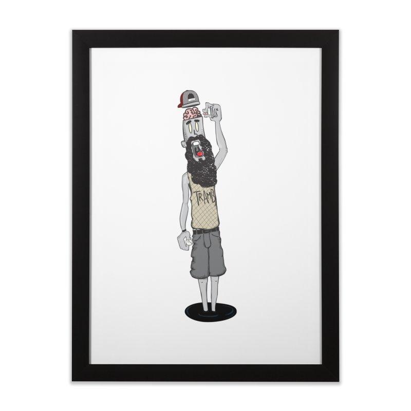 Eat Ur Brain Home Framed Fine Art Print by Tramb
