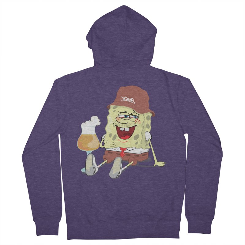 Sponge Beer Men's Zip-Up Hoody by Tramb