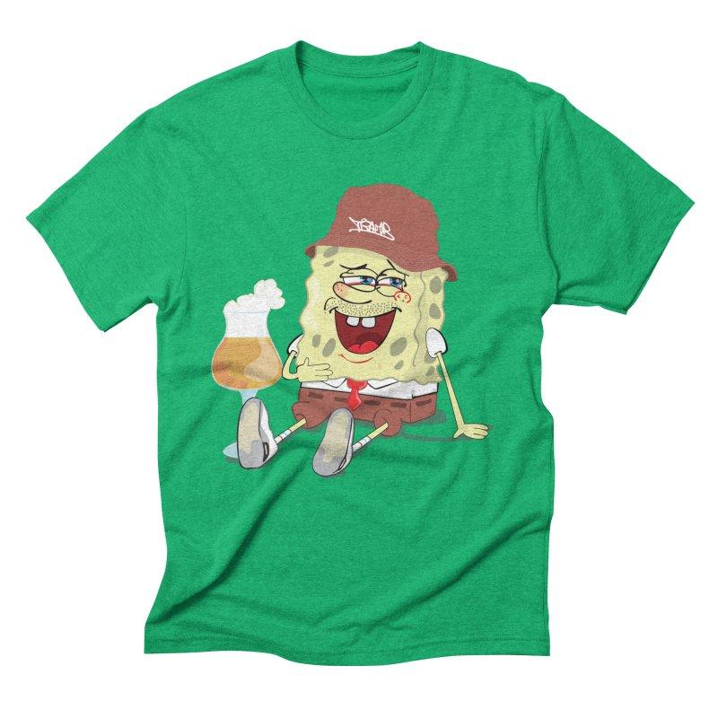 Sponge Beer Men's Triblend T-shirt by Tramb