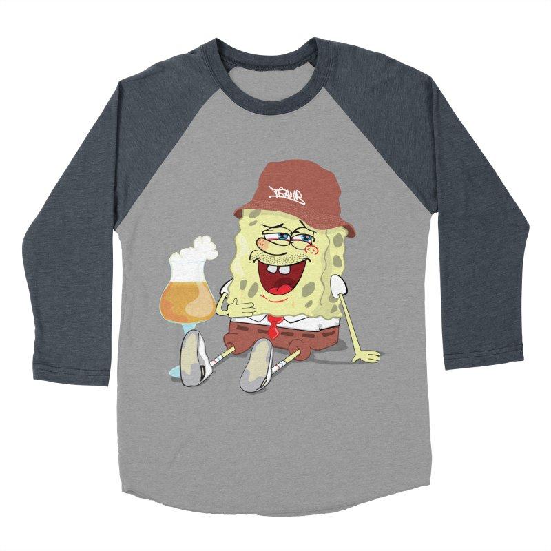 Sponge Beer Men's Baseball Triblend T-Shirt by Tramb
