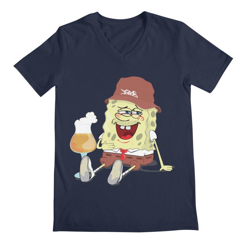 Sponge Beer Men's V-Neck by Tramb