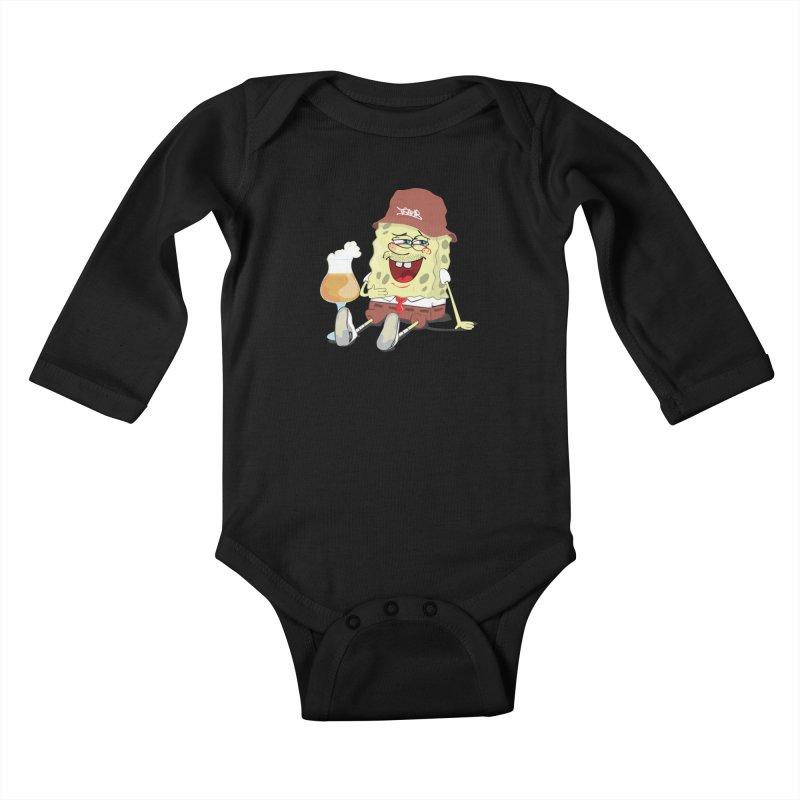 Sponge Beer Kids Baby Longsleeve Bodysuit by Tramb