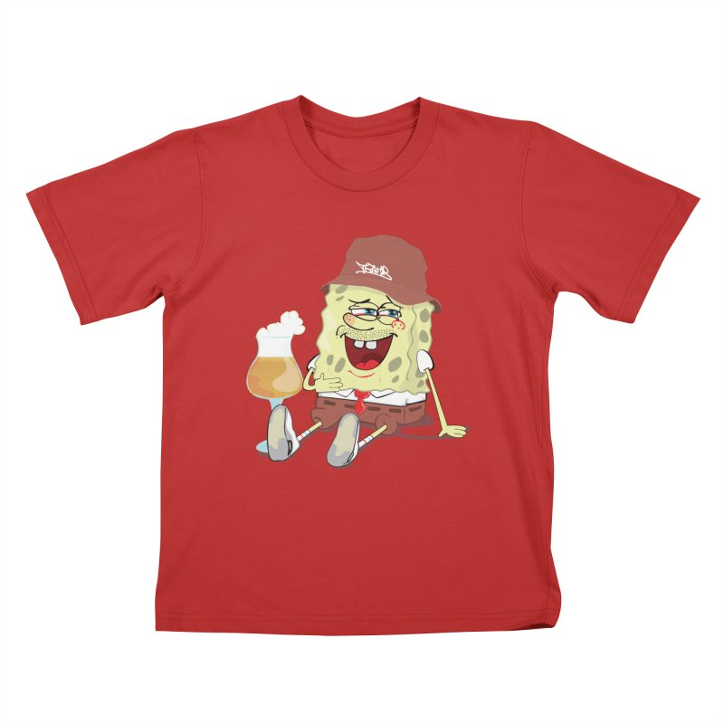 Sponge Beer Kids T-Shirt by Tramb