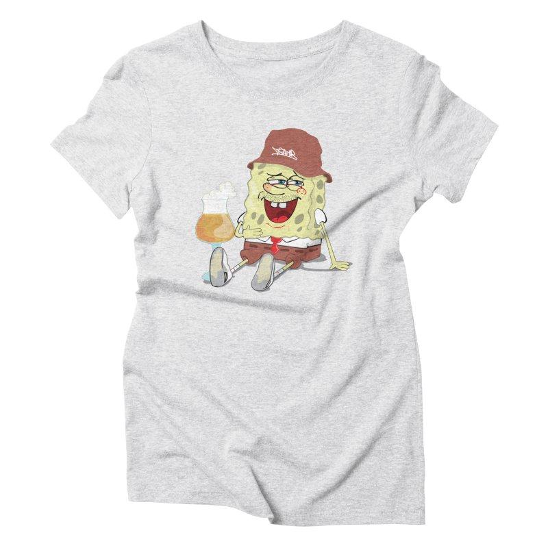 Sponge Beer Women's Triblend T-shirt by Tramb