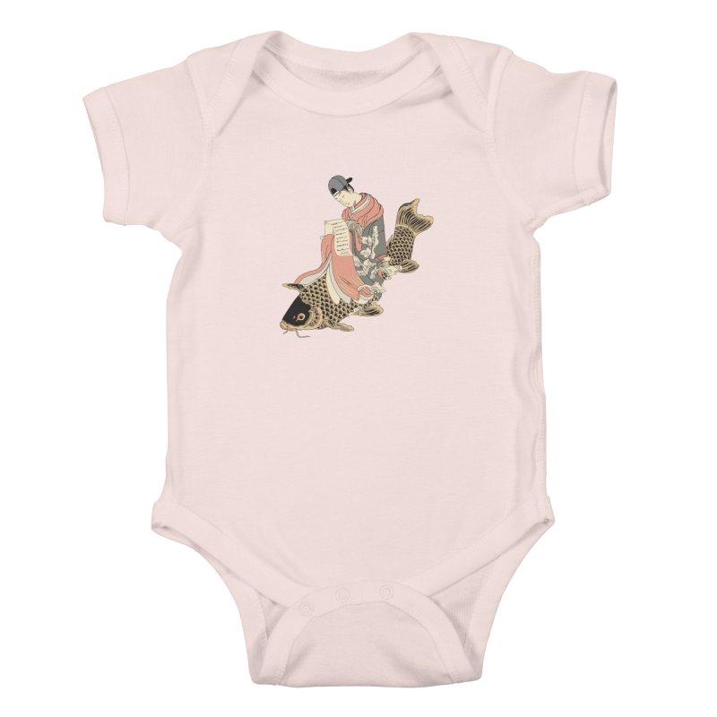 Oldschool Estampe! Kids Baby Bodysuit by Tramb