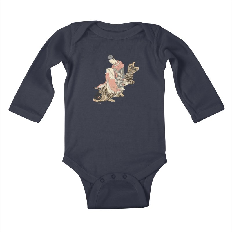 Oldschool Estampe! Kids Baby Longsleeve Bodysuit by Tramb