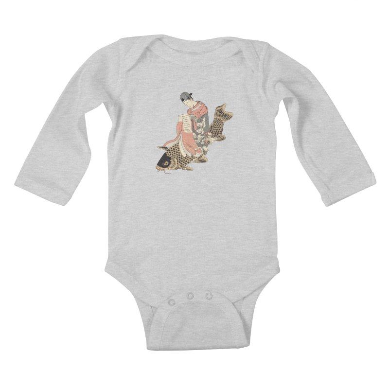 Oldschool Estampe! Kids Baby Longsleeve Bodysuit by Tramb