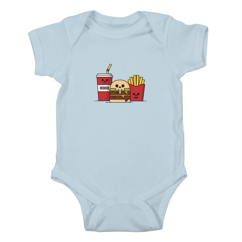 Unhappy Meal Kids Baby Bodysuit by Tony Bamber's Shop
