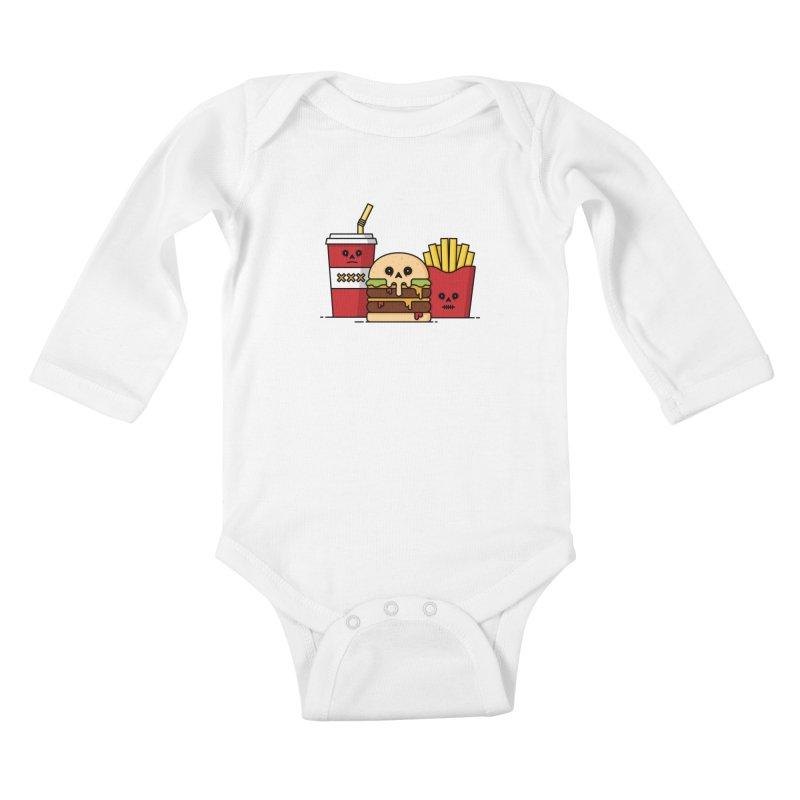 Unhappy Meal Kids Baby Longsleeve Bodysuit by Tony Bamber's Shop