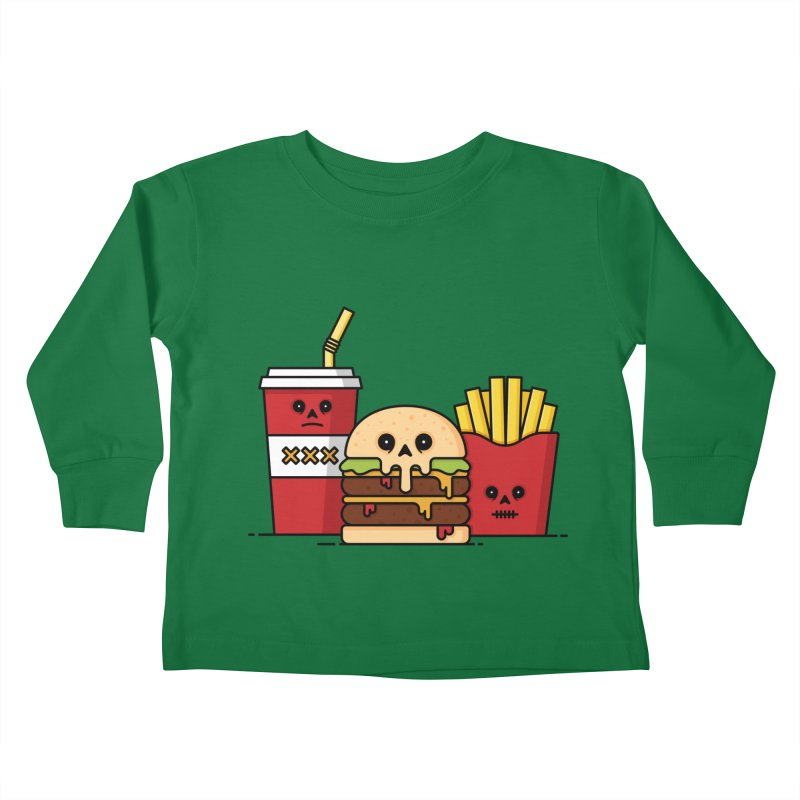 Unhappy Meal Kids Toddler Longsleeve T-Shirt by Tony Bamber's Shop