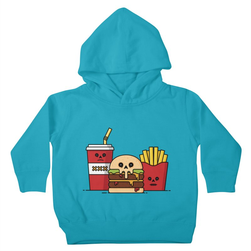 Unhappy Meal Kids Toddler Pullover Hoody by Tony Bamber's Shop