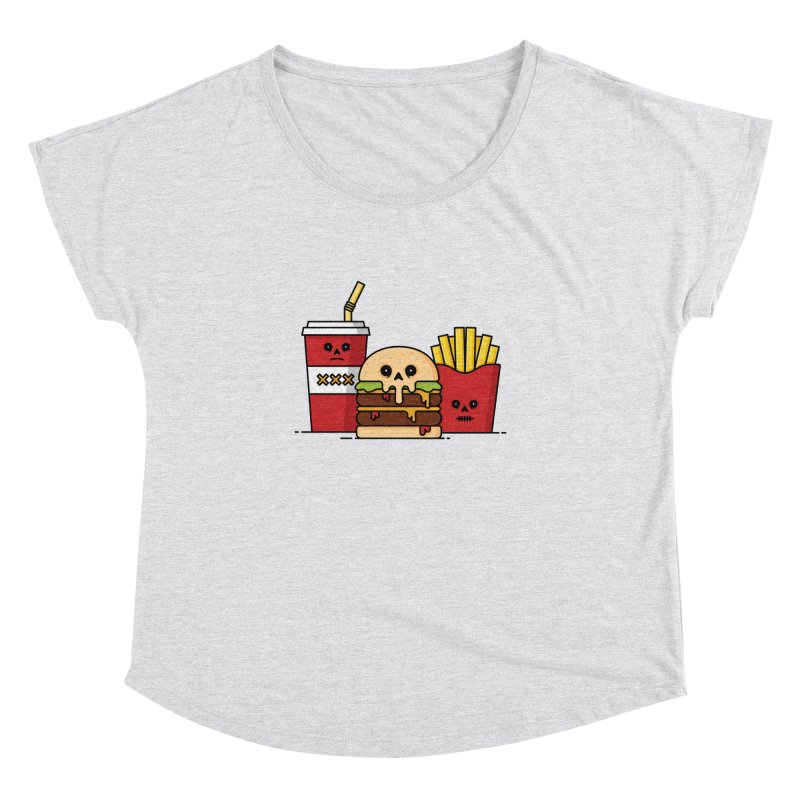 Unhappy Meal Women's Dolman Scoop Neck by Tony Bamber's Shop