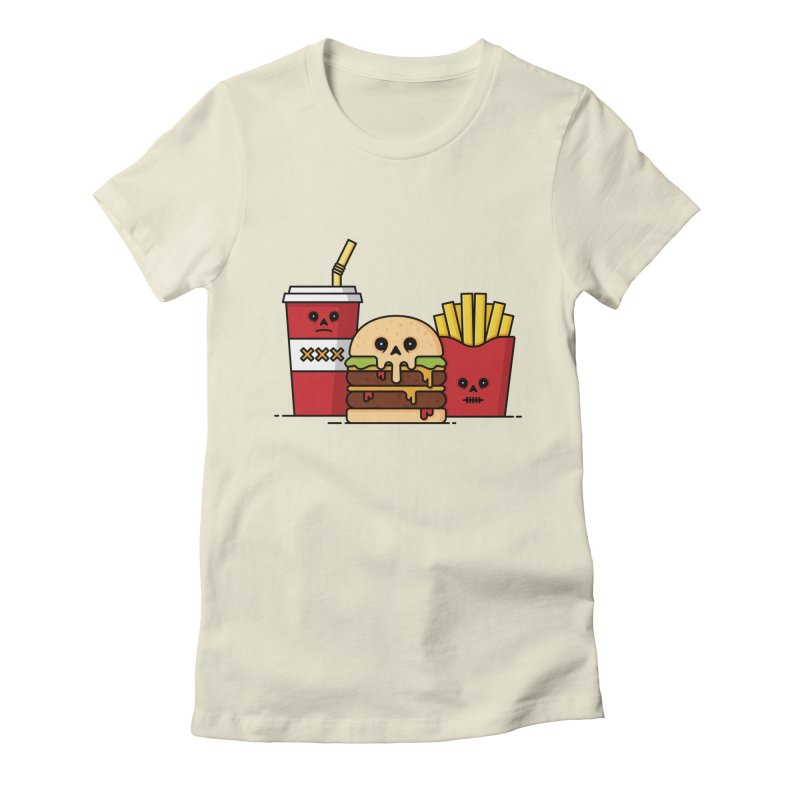 Unhappy Meal Women's Fitted T-Shirt by Tony Bamber's Shop
