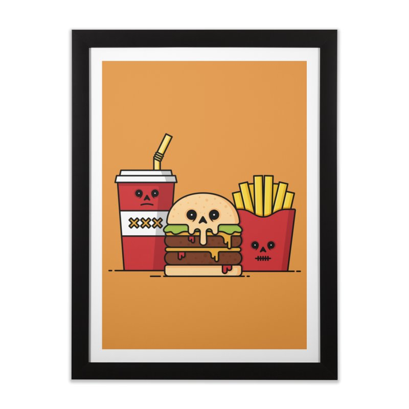 Unhappy Meal Home Framed Fine Art Print by Tony Bamber's Shop