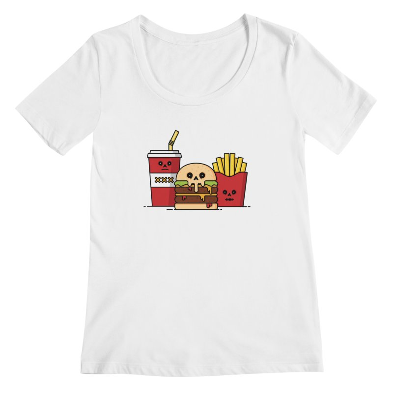 Unhappy Meal Women's Regular Scoop Neck by Tony Bamber's Shop