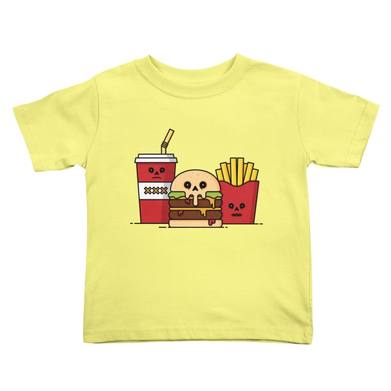 Unhappy Meal Kids Toddler T-Shirt by Tony Bamber's Shop