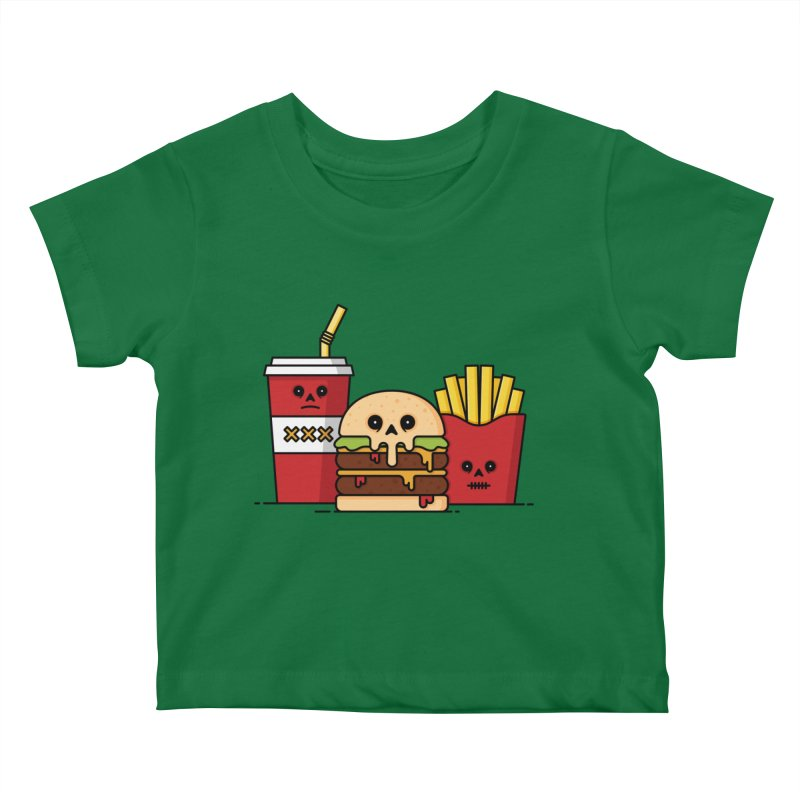 Unhappy Meal Kids Baby T-Shirt by Tony Bamber's Shop