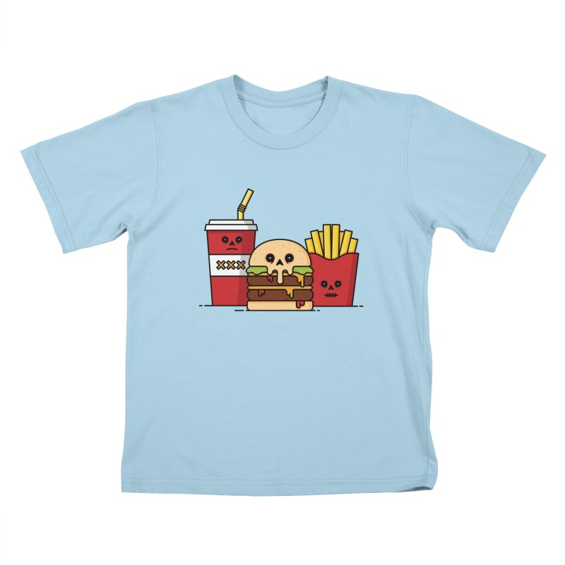 Unhappy Meal Kids T-Shirt by Tony Bamber's Shop