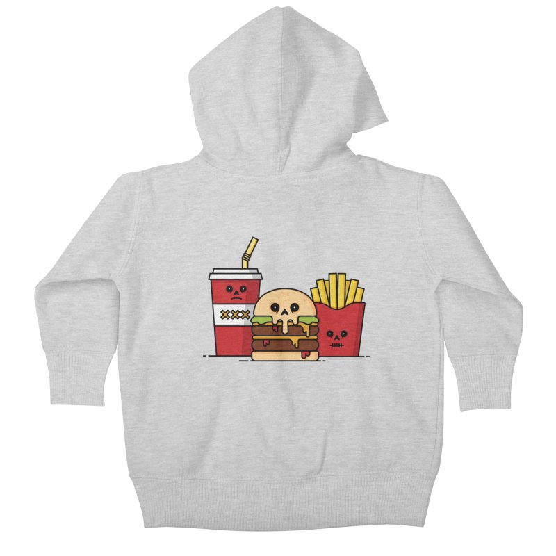 Unhappy Meal Kids Baby Zip-Up Hoody by Tony Bamber's Shop