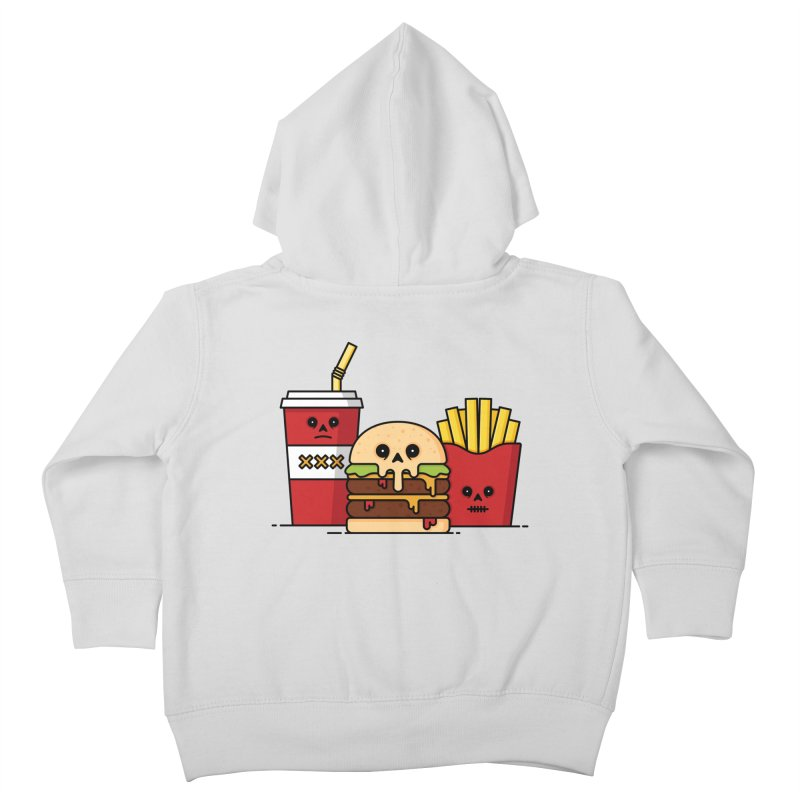 Unhappy Meal Kids Toddler Zip-Up Hoody by Tony Bamber's Shop