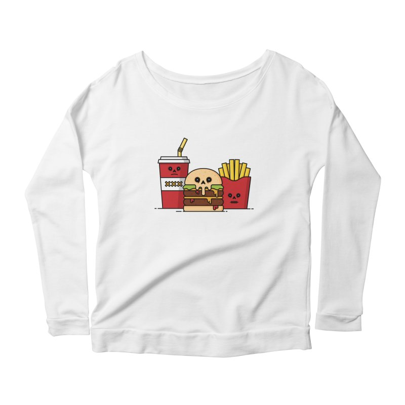 Unhappy Meal Women's Scoop Neck Longsleeve T-Shirt by Tony Bamber's Shop